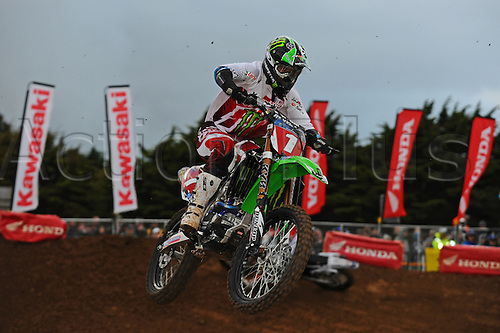 27.10.2012 Phillip Island, Melbourne, Australia. Pro Open rider Jay Marmont riding for Monster Energy Kawasaki during round 2 of the Australian Supercross Championships at Phillip Island.