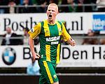 Nederland, Den Haag, 23 september  2012.Seizoen 2012/2013.Eredivisie.Ado Den Haag-Ajax.Tom Beugelsdijk juicht na het scoren van de 1-0.