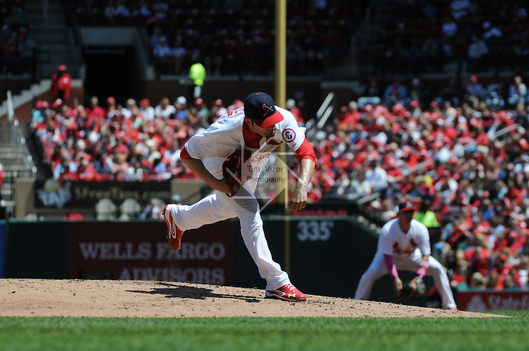 The Colorado Rockies defeated the St. Louis Cardinals 8-2 on Sunday May 12, 2013 at Busch Stadium in downtown St. Louis, Missouri.