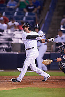 Tampa Yankees designated hitter Michael O'Neill (12) at bat during a game against the Lakeland Flying Tigers on April 8, 2016 at George M. Steinbrenner Field in Tampa, Florida.  Tampa defeated Lakeland 7-1.  (Mike Janes/Four Seam Images)