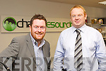 Fred McDonagh and Adrien King right from Chase Resouring in Killorglin