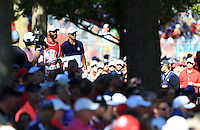 Jordan Spieth (Team USA) during Sunday Singles matches at the Ryder Cup, Hazeltine National Golf Club, Chaska, Minnesota, USA. 02/10/2016<br /> Picture: Golffile | Fran Caffrey<br /> <br /> <br /> All photo usage must carry mandatory copyright credit (&copy; Golffile | Fran Caffrey)