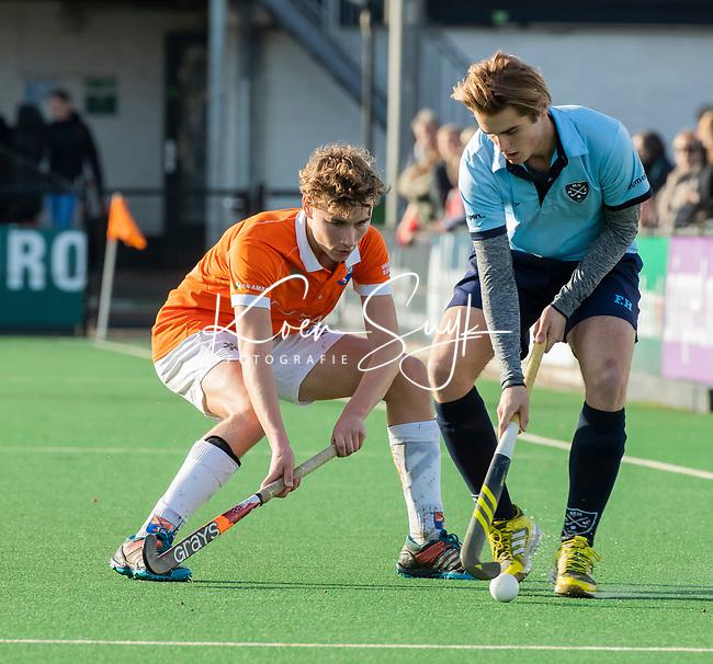 BLOEMENDAAL  -  David Huussen , competitiewedstrijd junioren  landelijk  Bloemendaal JA1-Nijmegen JA1 (2-2) . COPYRIGHT KOEN SUYK
