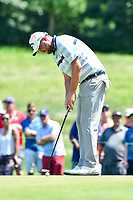 Bethesda, MD - July 1, 2018: Chesson Hadley sinks a putt on the 7th hole during final round of professional play at the Quicken Loans National Tournament at TPC Potomac at Avenel Farm in Bethesda, MD.  (Photo by Phillip Peters/Media Images International)