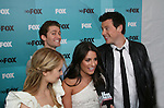 Matthew Morrison (ATWT) stars in GLEE as he chats with Dianna Agron - Lea Michele - Cory Monteith at the FOX 2009 Programming Presentation (Upfronts) Post-Party on May 18, 2009 at Wollman Rink in Central Park, New York City, New York.  (Photo by Sue Coflin/Max Photos)