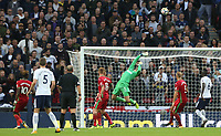 Lukasz Fabianski of Swansea City saves a header from Harry Kane of Tottenham Hotspur during during the Premier League match between Tottenham Hotspur and Swansea City at Wembley Stadium, London, England, UK. Saturday 16 September 2017