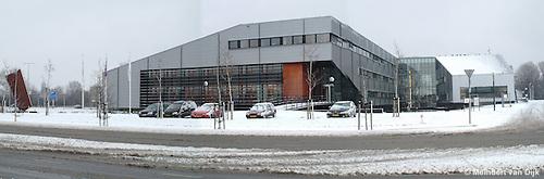Leeuwarden, 28 dec. 2004. Kantoor van Wetterskip Fryslân (Waterschap Friesland) te Leeuwarden.