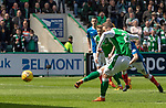 13.05.2018 Hibs v Rangers: Florian Kamberi scores from the spot