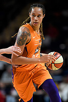 Washington, DC - July 30, 2019: Phoenix Mercury center Brittney Griner (42) drives to the basket during first half action of game between the Phoenix Mercury and Washington Mystics at the Entertainment & Sports Arena in Washington, DC. (Photo by Phil Peters/Media Images International)