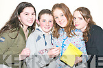 BRAINIACS: Some of the Tarbert Under 15 quiz team who took part in the Shannonside Youthclub tournament at the Ballybunion Community Centre on Friday evening were Orla Cregan, Shane Mulvihill, Rose O'Faolain and Sarah Mulvihill.   Copyright Kerry's Eye 2008