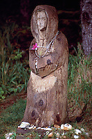 Haida Gwaii (Queen Charlotte Islands), Northern BC, British Columbia, Canada - St Mary Statue at St Mary's Spring, near Skidegate, Graham Island