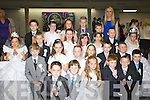 Pupils from Miss Claire O'Sullivan class class in St Oliver NS Killarney who received their first Holy Communion in the Church of the Ressurection on Saturday..
