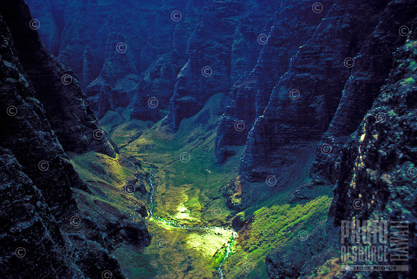"The densely jungled valley of Honopu was thought to be the last home of the Menehune and is often referred to as the """"Valley of the Lost Tribe."""" The beach in this area is where Jessica Lange eluded King Kong in the 1976 remake of the classic King"