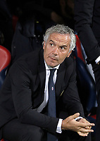 Calcio, Serie A: Bologna, stadio Renato Dall'Ara, 19 settembre 2017.<br /> Bologna's coach Maurizio Donadoni waits for the start of the Italian Serie A football match between Bologna and Inter Milan at Bologna's Renato Dall'Ara stadium, September 19, 2017.<br /> UPDATE IMAGES PRESS/Isabella Bonotto
