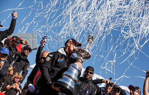 25.09.2013. San Francisco Bay, California, USA.  The 34th Americas  Cup Final Match Day 15 Oracle team USA vs Emirates team New Zealand  Americas Cup Award Ceremony