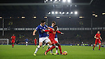 Gareth Barry and Seamus Coleman of Everton close down Sadio Mané of Liverpool during the English Premier League match at Goodison Park, Liverpool. Picture date: December 19th, 2016. Photo credit should read: Lynne Cameron/Sportimage