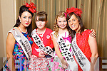 Perth Rose Jean O'Riordan pictured with her Rosebud Megan Dennehy and Cork Rose Edel Buckley pictured with her Rosebud Chloe Kennedy at the Carlton Hotel at the Rose of Tralee on Friday.