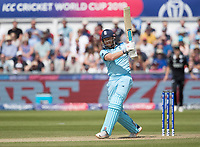 Jonny Bairstow (England) pulls through wide mid wicket for four runs during England vs New Zealand, ICC World Cup Cricket at The Riverside Ground on 3rd July 2019