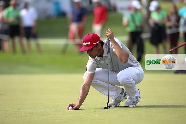 Birdie on 15 for Rafa Cabrera-Bello (ESP) during Round Three of the 2015 BMW International Open at Golfclub Munchen Eichenried, Eichenried, Munich, Germany. 27/06/2015. Picture David Lloyd   www.golffile.ie