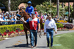 DEL MAR, CA  AUGUST 10: Bob Baffert trained Garth was the favorite in his debut in the 2 yo maiden race (Photo by Casey Phillips/Eclipse Sportswire/CSM)