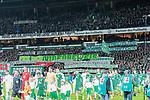 11.02.2018, Weserstadion, Bremen, GER, 1.FBL, SV Werder Bremen vs VfL Wolfsburg<br /> <br /> im Bild<br /> Fan-Protest in der Ostkurve gegen Videobeweis beim Einlaufen, <br /> <br /> Foto &copy; nordphoto / Ewert