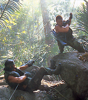 Predator (1987) <br /> Sonny Landham &amp; Arnold Schwarzenegger<br /> *Filmstill - Editorial Use Only*<br /> CAP/KFS<br /> Image supplied by Capital Pictures