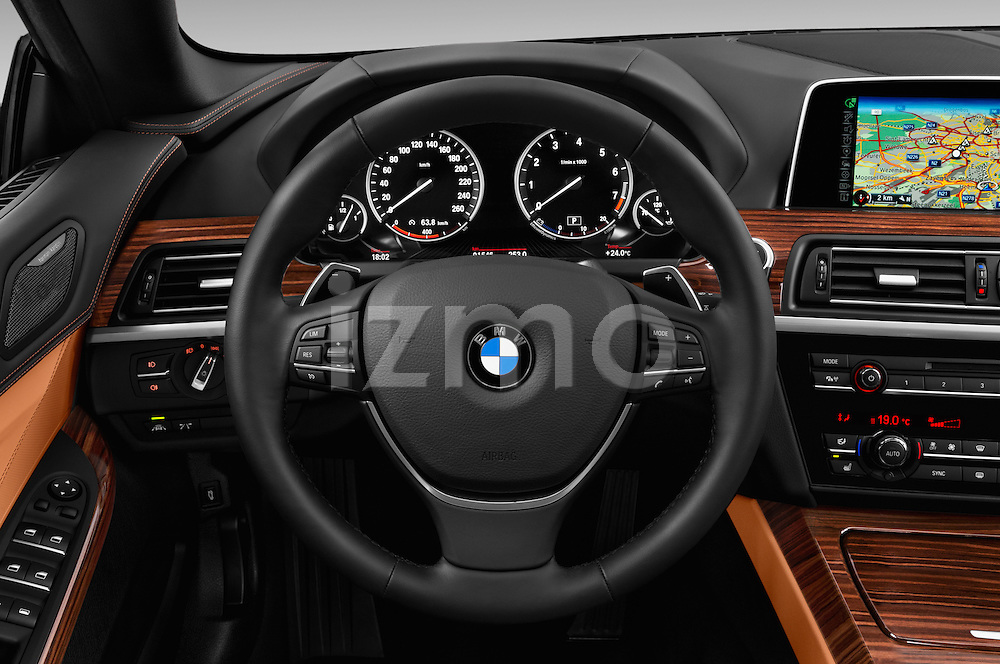 Car pictures of steering wheel view of a 2015 BMW 6 Series 640i 2 Door Convertible Steering Wheel