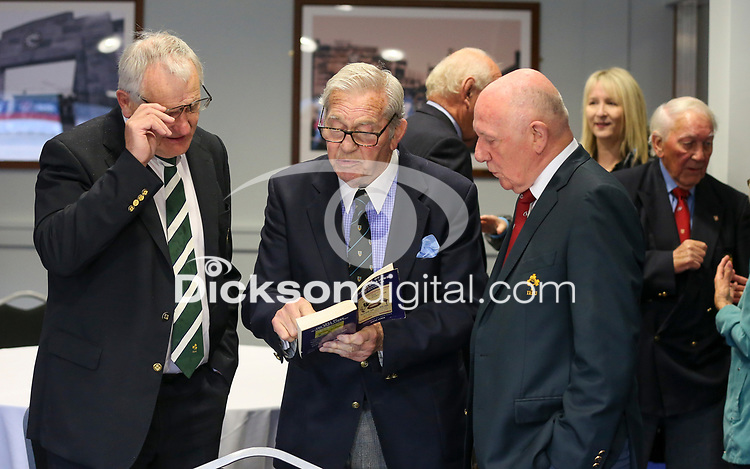 10th October 2019 | Syd Millar Pathway<br /> <br /> Ian McIlrwath, Syd Millar and Stephen Hilditch during the official opening of the Syd Millar Pathway at Kingspan Stadium, Ravenhill Park, Belfast, Northern Ireland. Photo by John Dickson / DICKSONDIGITAL