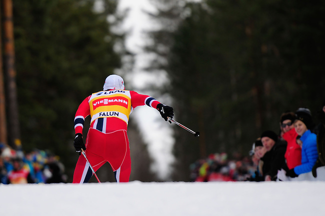 FALUN, SWEDEN - March 24: Petter jr. Northug of Norway (NOR) during the Viessmann Men Handicap 15 km F at the FIS Cross country World Cup Final on March 24, 2013 in Falun, Sweden. (Photo by Dirk Markgraf)