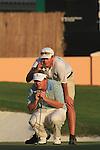 Dubai World Championship Golf. Earth Course,.Jumeirah Golf Estate, Dubai, U.A.E...Ross McGowan lines up his putt on the 18th green during the third round of the Dubai World Golf championship..Photo: Fran Caffrey/www.golffile.ie...