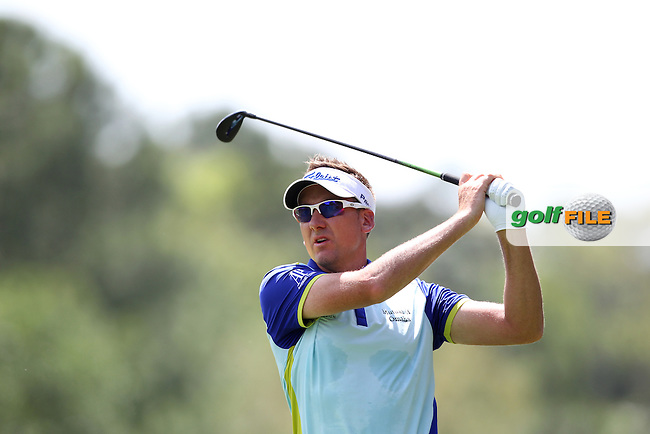 Ian Poulter of England drives from the 2nd tee during the 3rd round of the Valspar Championship, Innisbrook Resort (Copperhead), Palm Harbor, Florida, USA<br /> Picture: Peter Mulhy / Golffile