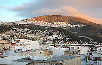 The medina or old town and cemeteries of Tetouan on the slopes of Jbel Dersa in the Rif Mountains of Northern Morocco. Tetouan was of particular importance in the Islamic period from the 8th century, when it served as the main point of contact between Morocco and Andalusia. After the Reconquest, the town was rebuilt by Andalusian refugees who had been expelled by the Spanish. The medina of Tetouan dates to the 16th century and was declared a UNESCO World Heritage Site in 1997. Picture by Manuel Cohen