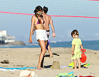 Alessandra Ambrosio shows off her bikini body and spends time with daughter Anja and friends_on the beach in Malibu. Los Angeles, California on 8.7.2012..Credit: Correa/face to face.. /MediaPunch Inc. ***FOR USA ONLY*** ***Online Only for USA Weekly Print Magazines***
