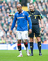 :: RANGERS' EL HADJI DIOUF IS NOT HAPPY WITH REF IAIN BRINES ::