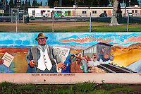 """Mexican Americans Deported"" Great Wall Mural, Los Angeles, CA, Tujunga Wash, Sub Watershed,  San Fernando Valley, Los Angeles, CA"