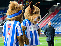 Sheffield Wednesday manager Carlos Carvalhal walks past the Huddersfield Town mascots before the game<br /> <br /> Photographer Chris Vaughan/CameraSport<br /> <br /> The EFL Sky Bet Championship Play-Off Semi Final First Leg - Huddersfield Town v Sheffield Wednesday - Saturday 13th May 2017 - The John Smith's Stadium - Huddersfield<br /> <br /> World Copyright &copy; 2017 CameraSport. All rights reserved. 43 Linden Ave. Countesthorpe. Leicester. England. LE8 5PG - Tel: +44 (0) 116 277 4147 - admin@camerasport.com - www.camerasport.com