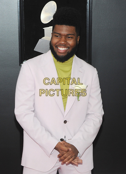 NEW YORK, NY - JANUARY 28: Khalid at the 60th Annual GRAMMY Awards at Madison Square Garden on January 28, 2018 in New York City. <br /> CAP/MPI/JP<br /> &copy;JP/MPI/Capital Pictures