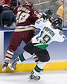 Dan Bertram, Mike Prpich - The Boston College Eagles defeated the University of North Dakota Fighting Sioux 6-5 on Thursday, April 6, 2006, in the 2006 Frozen Four afternoon Semi-Final at the Bradley Center in Milwaukee, Wisconsin.