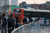 SÃO PAULO-SP-17,08,2014 -PARALISAÇÃO PARCIAL DA LINHA 4- AMARELA- Devido as obras das futuras estações Oscar Freire e Fradique Coutinho da Linha 4 - Amarela (Butantã - Luz), os trens não circularam entre as estações Paulista e Faria Lima, durante todo o dia.Fotos da Estação Faria Lima (Largo da Batata);Região Oeste da cidade de São Paulo,na tarde desse Domingo,17 (Foto:Kevin David/Brazil Photo Press)