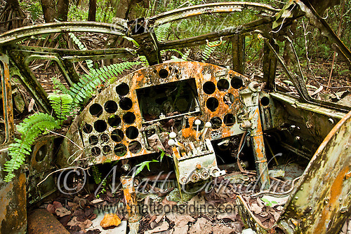 Cockpit of Old Plane, Yap Micronesia (Photo by Matt Considine - Images of Asia Collection) (Matt Considine)