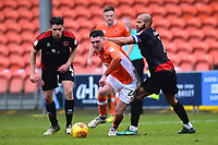 Blackpool's Callum Cooke vies for possession with Walsall's Adam Chambers<br /> <br /> Photographer Richard Martin-Roberts/CameraSport<br /> <br /> The EFL Sky Bet League One - Blackpool v Walsall - Saturday 10th February 2018 - Bloomfield Road - Blackpool<br /> <br /> World Copyright &not;&copy; 2018 CameraSport. All rights reserved. 43 Linden Ave. Countesthorpe. Leicester. England. LE8 5PG - Tel: +44 (0) 116 277 4147 - admin@camerasport.com - www.camerasport.com