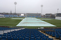 General view of the ground as rain delays the start of play during Yorkshire CCC vs Essex CCC, Specsavers County Championship Division 1 Cricket at Emerald Headingley Cricket Ground on 13th April 2018