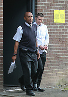 Tuesday 18 April 2017<br /> Businessman Craig Evans, 26, (R) facing jail over an affair with a 14 year old girl, Merthyr Crown Court, Wales, UK