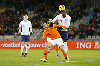 19th November 2019, Stadion De Vijverberg, Doetinchem, Netherlands; U-21 International football freindly, Netherlands versus England;  Netherlands player Kaj Sierhuis loses the header to England player Marc Guehi