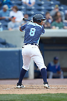 Darwin Alvarado (8) of the West Michigan Whitecaps at bat against the South Bend Cubs at Fifth Third Ballpark on June 10, 2018 in Comstock Park, Michigan. The Cubs defeated the Whitecaps 5-4.  (Brian Westerholt/Four Seam Images)