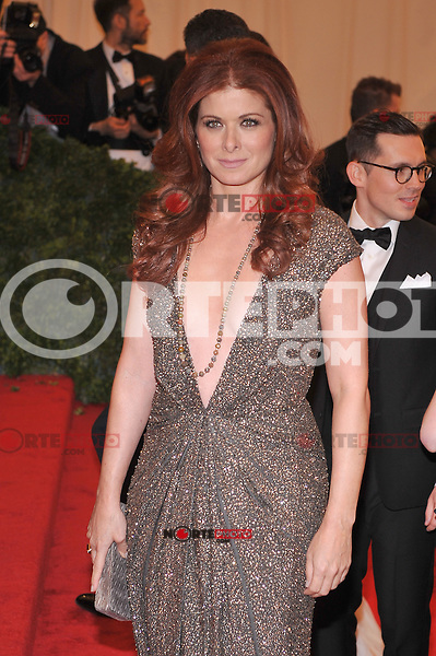 Debra Messing at the 'Schiaparelli And Prada: Impossible Conversations' Costume Institute Gala at the Metropolitan Museum of Art on May 7, 2012 in New York City. ©mpi03/MediaPunch Inc.