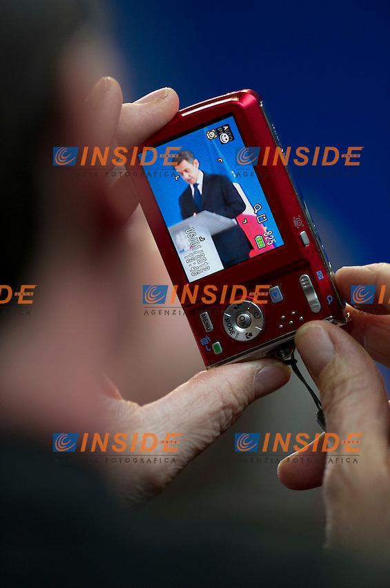 Nicolas Sarkozy.Vaucouleurs ( Francia) 6/1/2012.Visita del Presidente Francese per il 600mo anniversario della nascita di Giovanna d'Arco . .Foto Insidefoto / Guillaume Ramon / Insidefoto .ITALY ONLY..