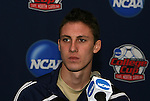 10 December 2009: Senior midfielder Ben Zemanski. The University of Akron Zips held a press conference at WakeMed Soccer Stadium in Cary, North Carolina on the day before playing North Carolina in an NCAA Division I Men's College Cup semifinal game.