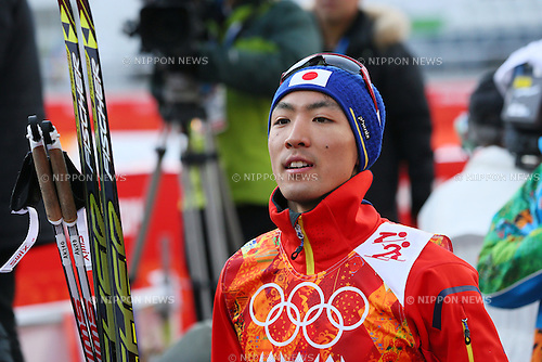 Akito Watabe (JPN), <br /> FEBRUARY 12, 2014 - Nordic Combined : <br /> Individual Gundersen NH/10km <br /> at &quot;RUSSKI GORKI&quot; Jumping Center <br /> during the Sochi 2014 Olympic Winter Games in Sochi, Russia. <br /> (Photo by Yohei Osada/AFLO SPORT)