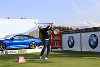 Marcel Siem (GER) tees off the 11th tee during Thursday's Round 1 of the 2017 Omega European Masters held at Golf Club Crans-Sur-Sierre, Crans Montana, Switzerland. 7th September 2017.<br /> Picture: Eoin Clarke | Golffile<br /> <br /> <br /> All photos usage must carry mandatory copyright credit (&copy; Golffile | Eoin Clarke)